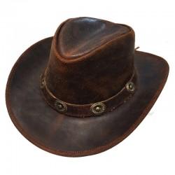 CONCHOS austrálsky kožený klobúk