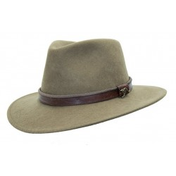 OUTDOOR Taupe austrálsky vlnený klobúk