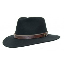 OUTDOOR Black austrálsky vlnený klobúk