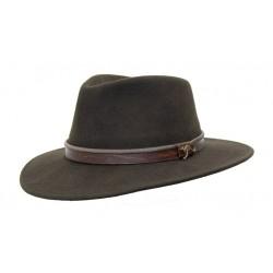 OUTDOOR Brown austrálsky vlnený klobúk
