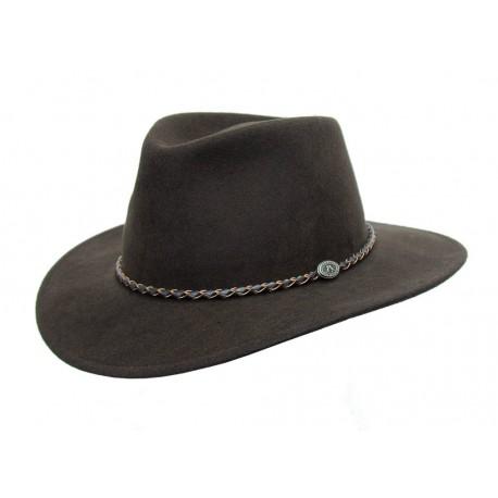 JACOB Brown austrálsky vlnený klobúk