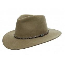 JACOB Taupe austrálsky vlnený klobúk