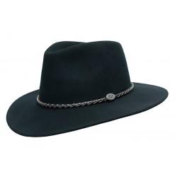 JACOB Black austrálsky vlnený klobúk