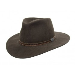 WILLIS Brown austrálsky vlnený klobúk