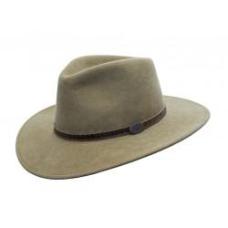 WILLIS Taupe austrálsky vlnený klobúk
