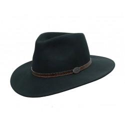 WILLIS Black austrálsky vlnený klobúk