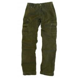STRIDES Loden Green outdoorové cargo nohavice